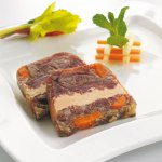 terrine de boeuf au foie gras rougie