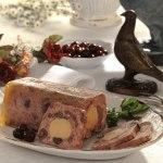 Terrine de pigeons au foie gras de canard et au griottes
